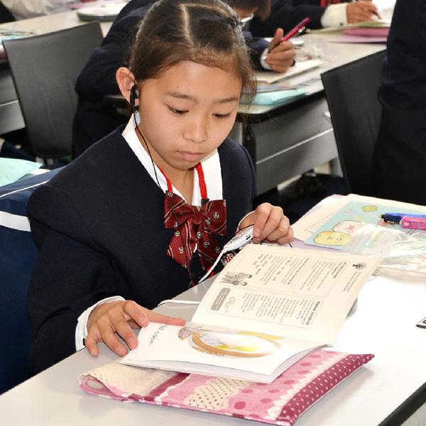 英語を強化したカリキュラム